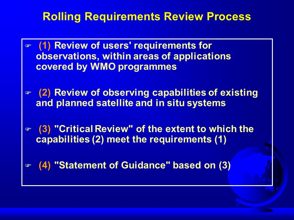 Rolling Requirements Review Process