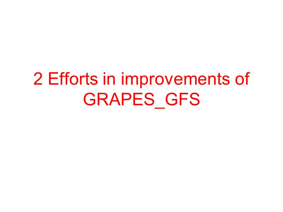 2 Efforts in improvements of GRAPES_GFS