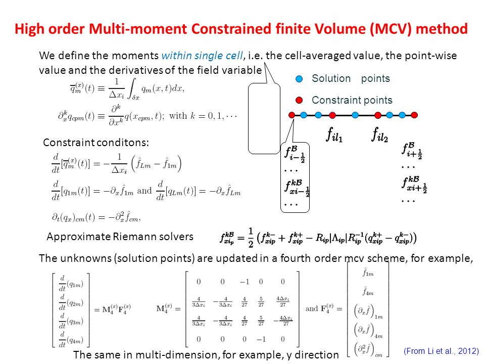 High order Multi-moment Constrained finite Volume (MCV) method