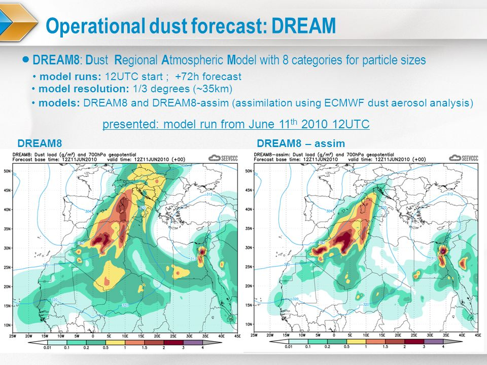 Operational dust forecast: DREAM