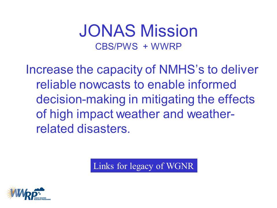 JONAS Mission CBS/PWS + WWRP