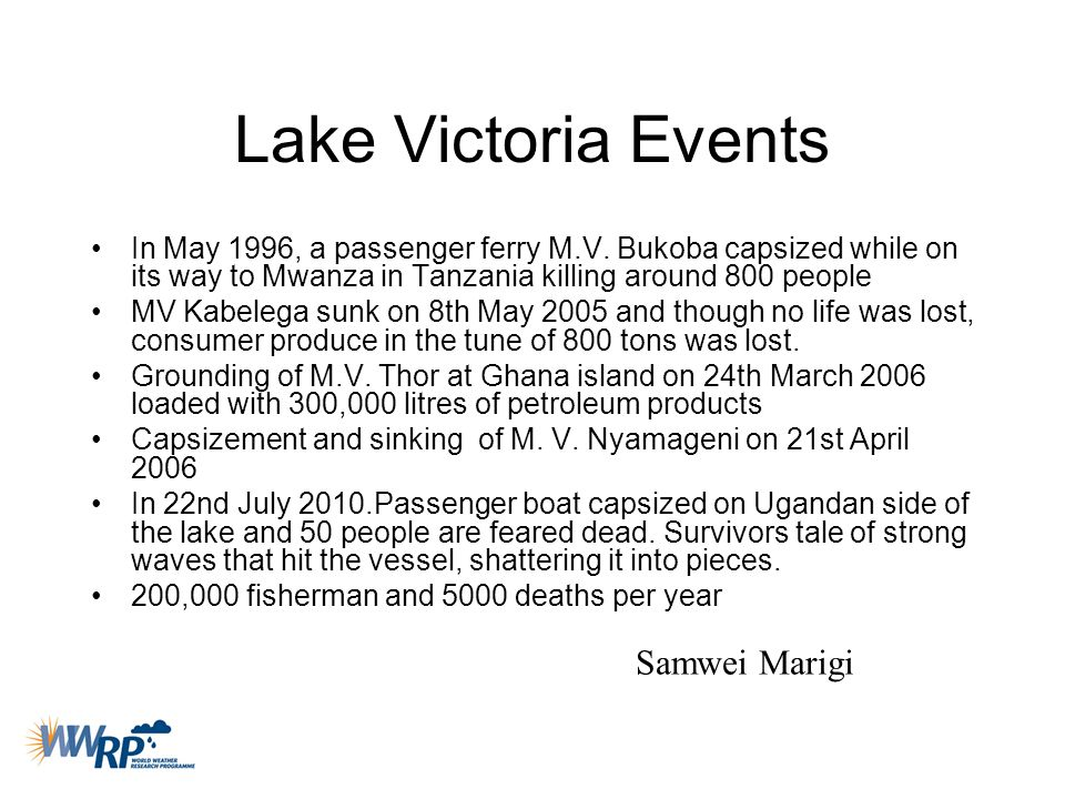 Lake Victoria Events Samwei Marigi