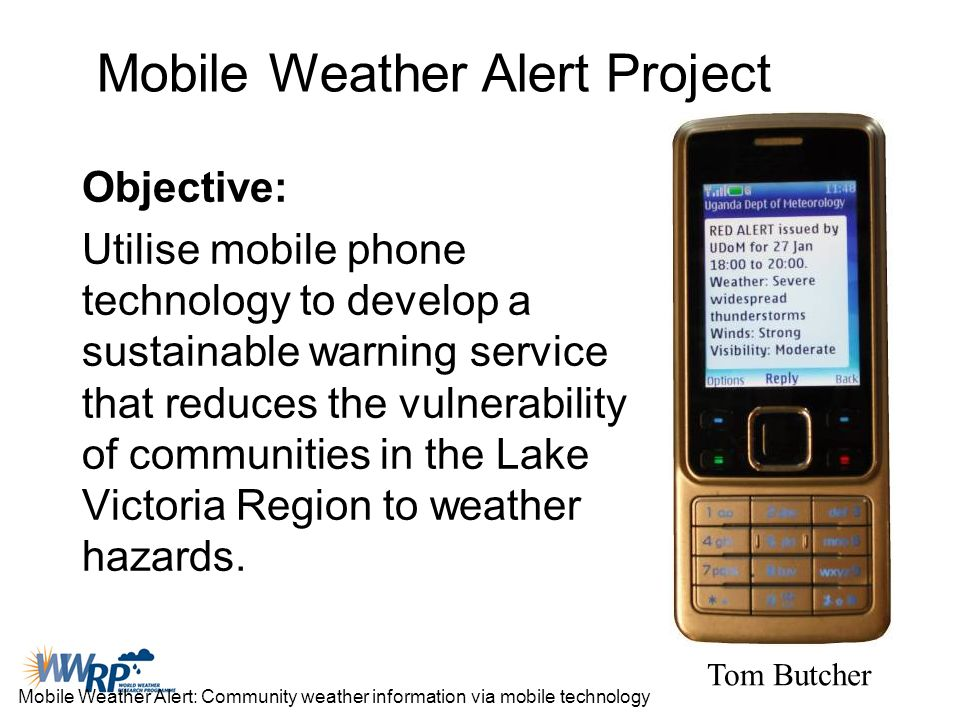 Mobile Weather Alert Project