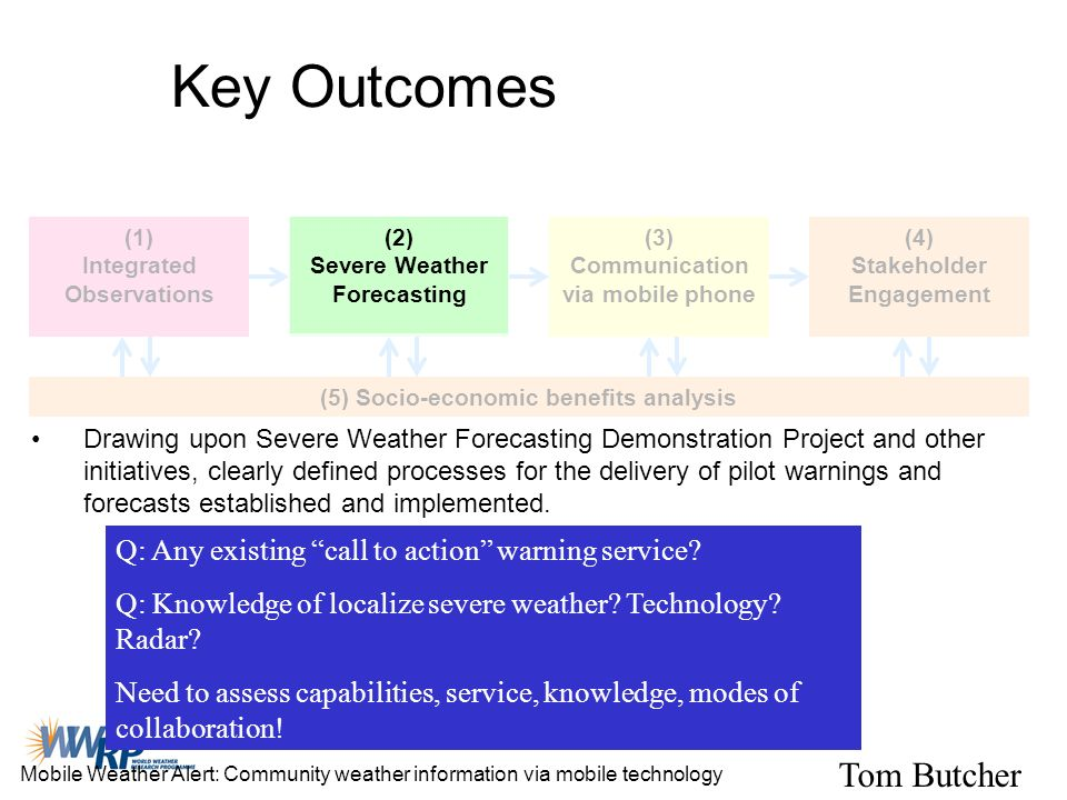 Key Outcomes Tom Butcher