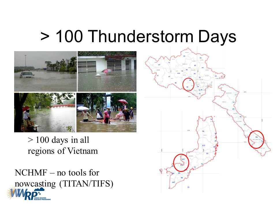 > 100 Thunderstorm Days
