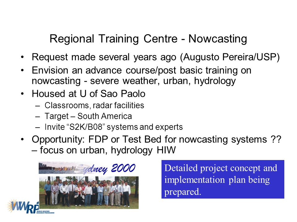 Regional Training Centre - Nowcasting