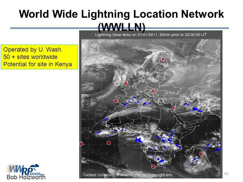 World Wide Lightning Location Network (WWLLN)