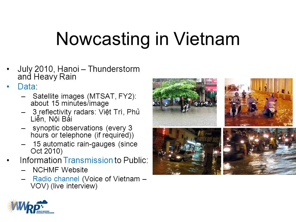 Nowcasting in Vietnam July 2010, Hanoi – Thunderstorm and Heavy Rain