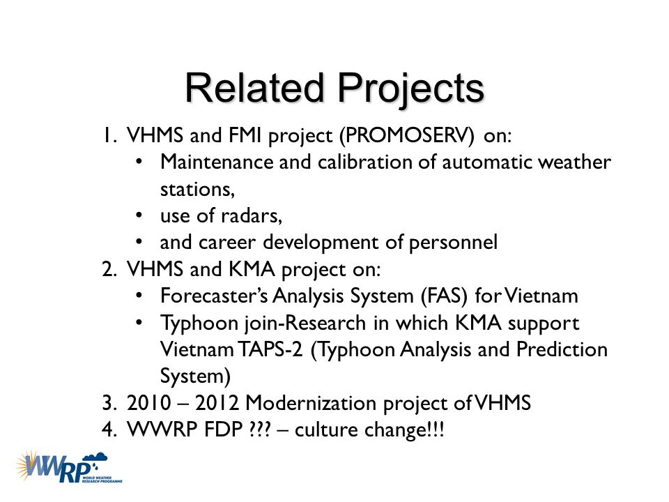 Related Projects VHMS and FMI project (PROMOSERV) on: