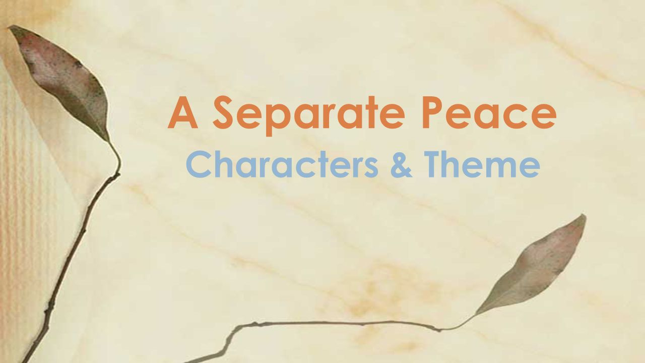 What is a separate peace - winning the war or losing 3