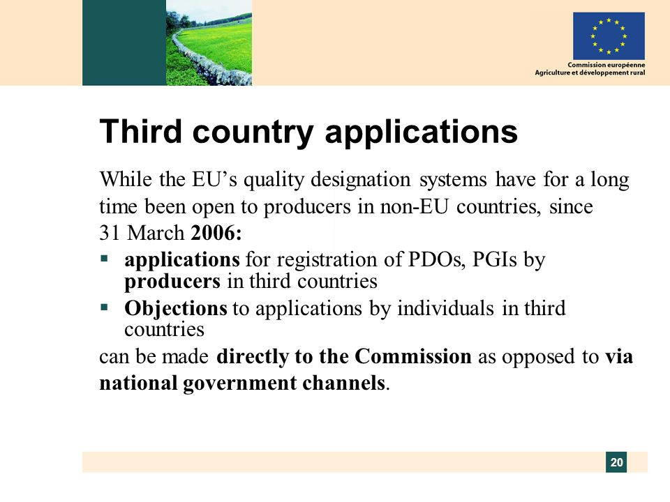 Third country applications