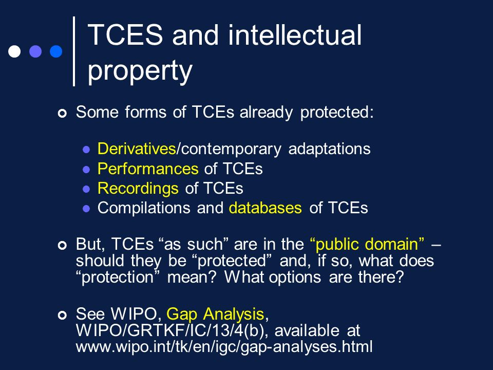 TCES and intellectual property
