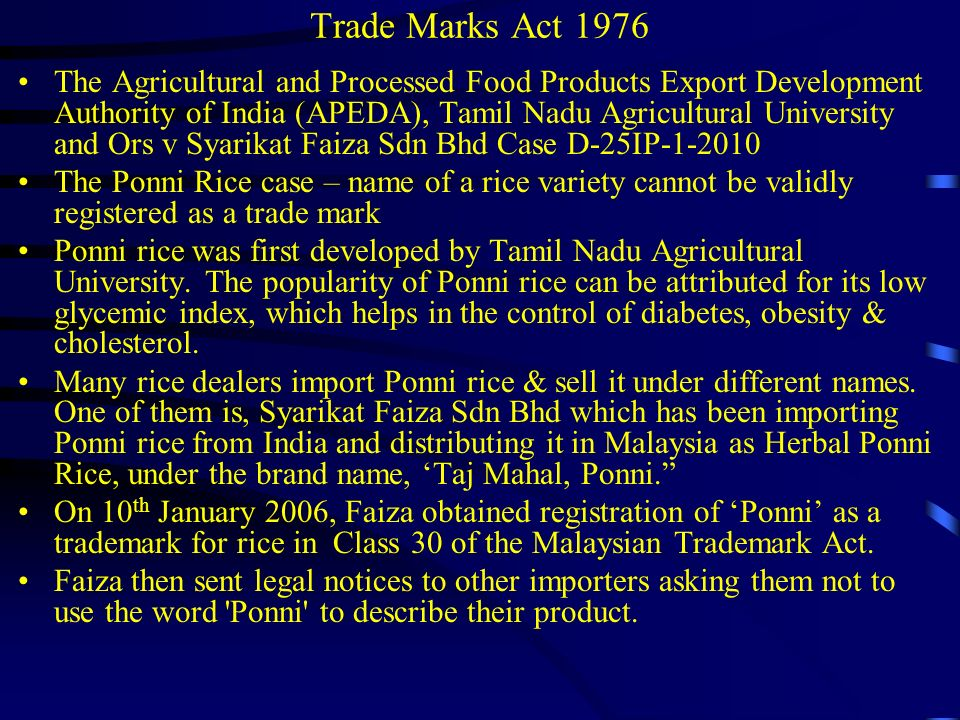 Trade Marks Act 1976