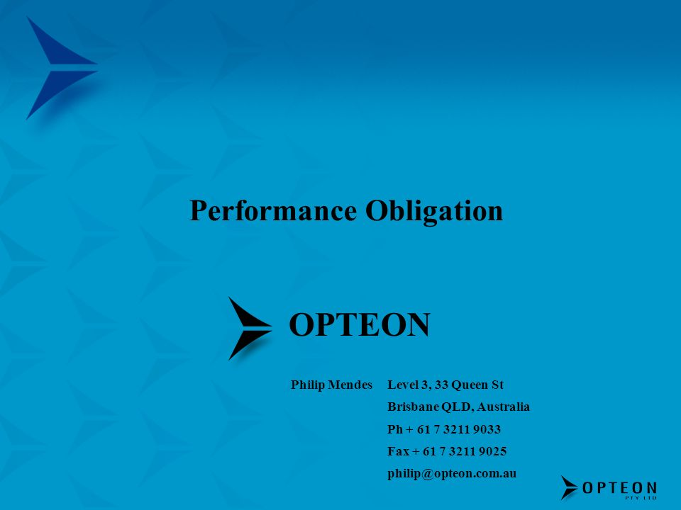 Performance Obligation
