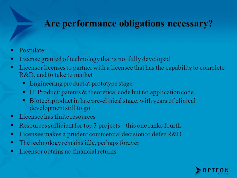 Are performance obligations necessary