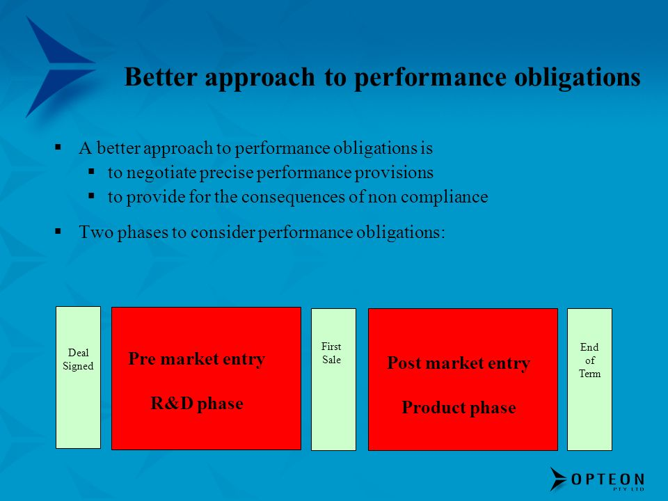 Better approach to performance obligations