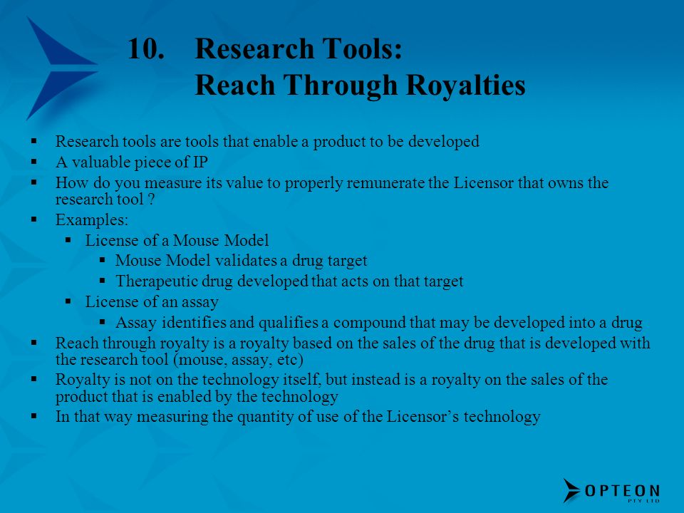 Research Tools: Reach Through Royalties
