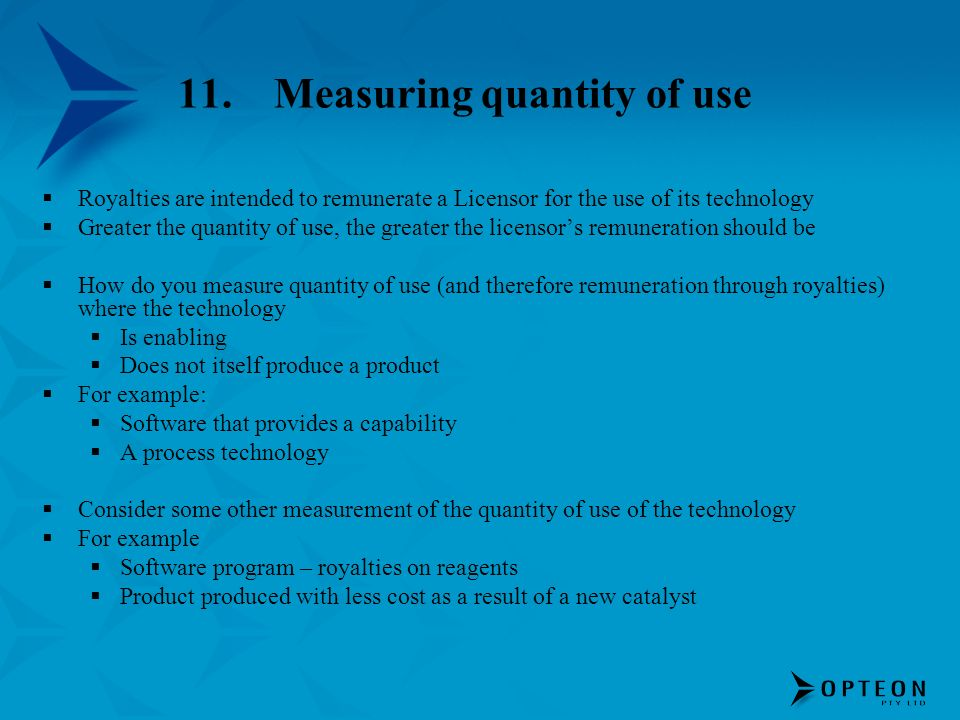 11. Measuring quantity of use