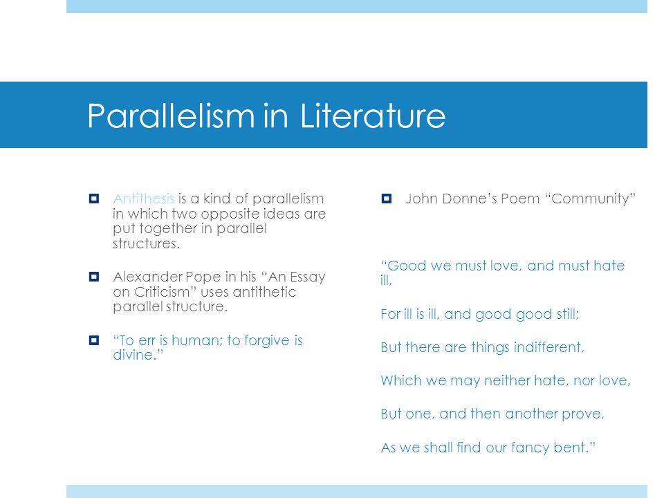 parallelism in literature