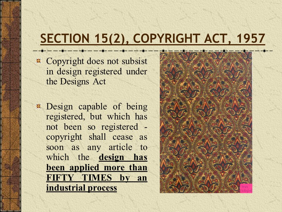 SECTION 15(2), COPYRIGHT ACT, 1957
