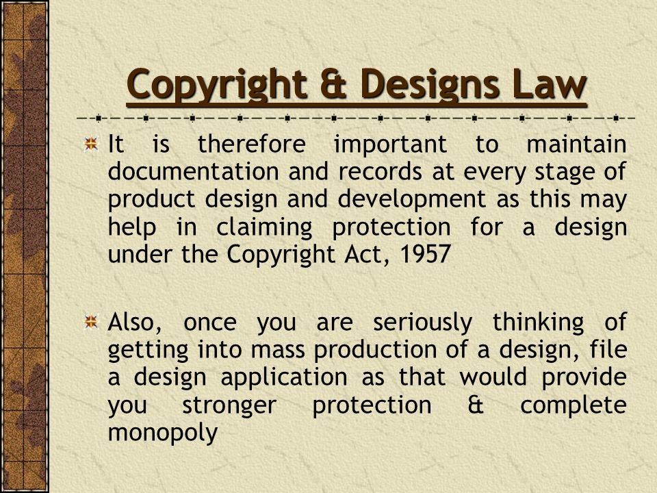 Copyright & Designs Law