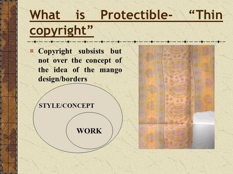 What is Protectible- Thin copyright