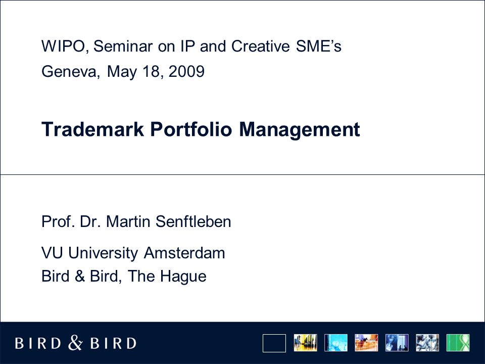 Trademark Portfolio Management