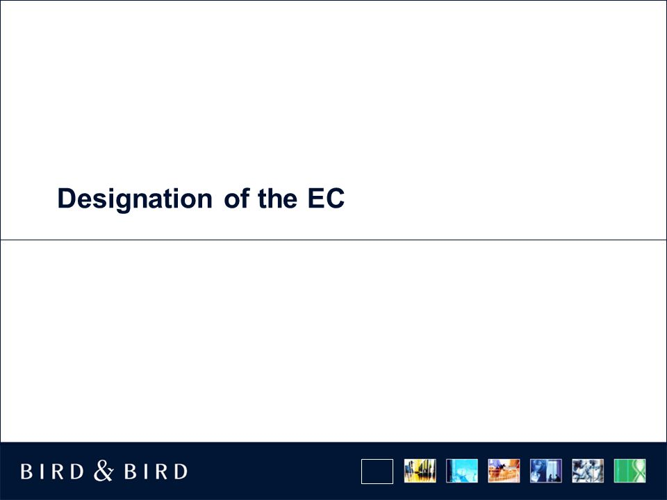 Designation of the EC