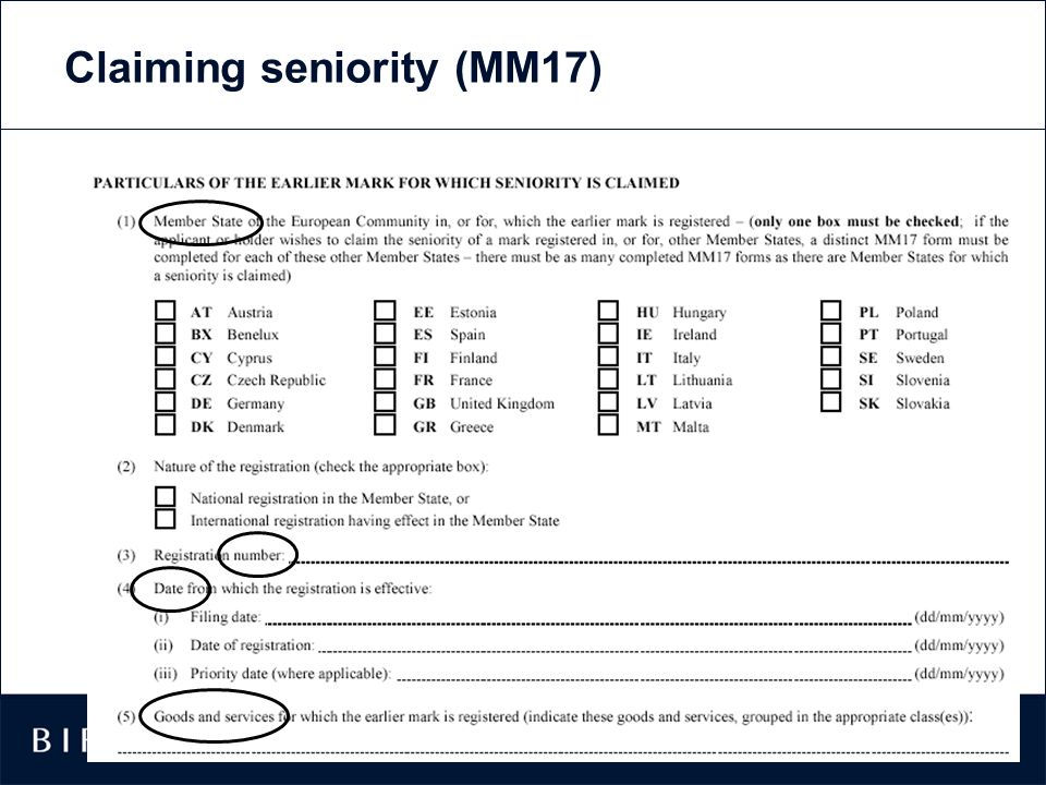 Claiming seniority (MM17)