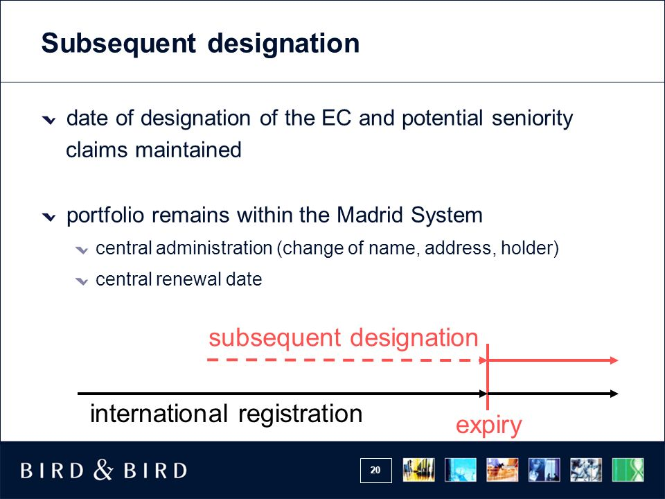 Subsequent designation