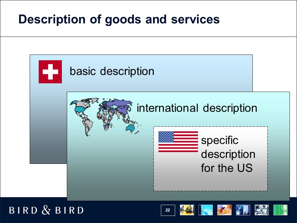 Description of goods and services