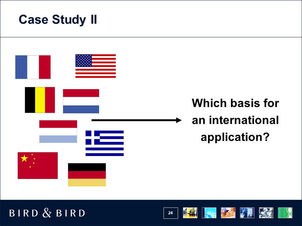 Which basis for an international application
