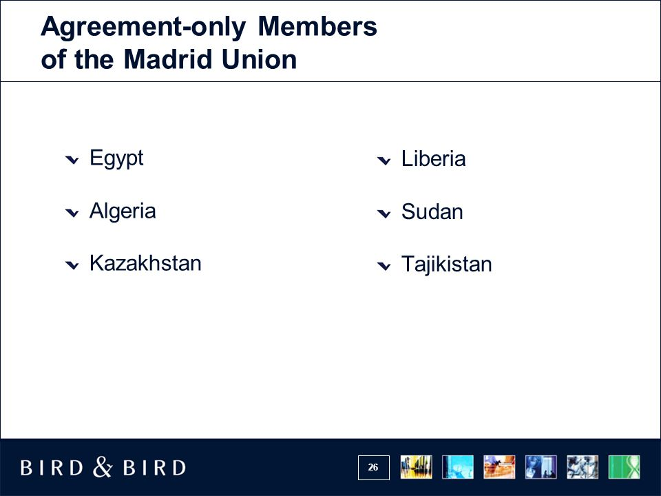 Agreement-only Members of the Madrid Union