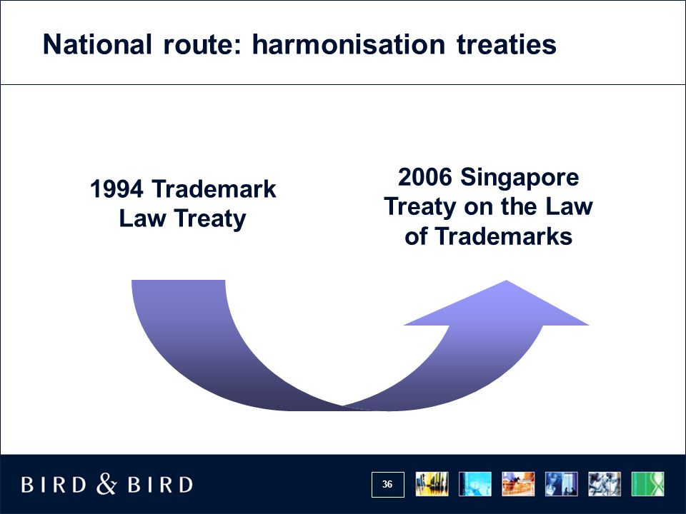 National route: harmonisation treaties