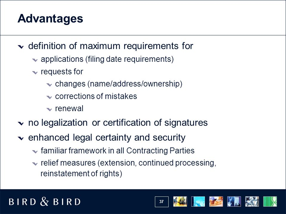 Advantages definition of maximum requirements for