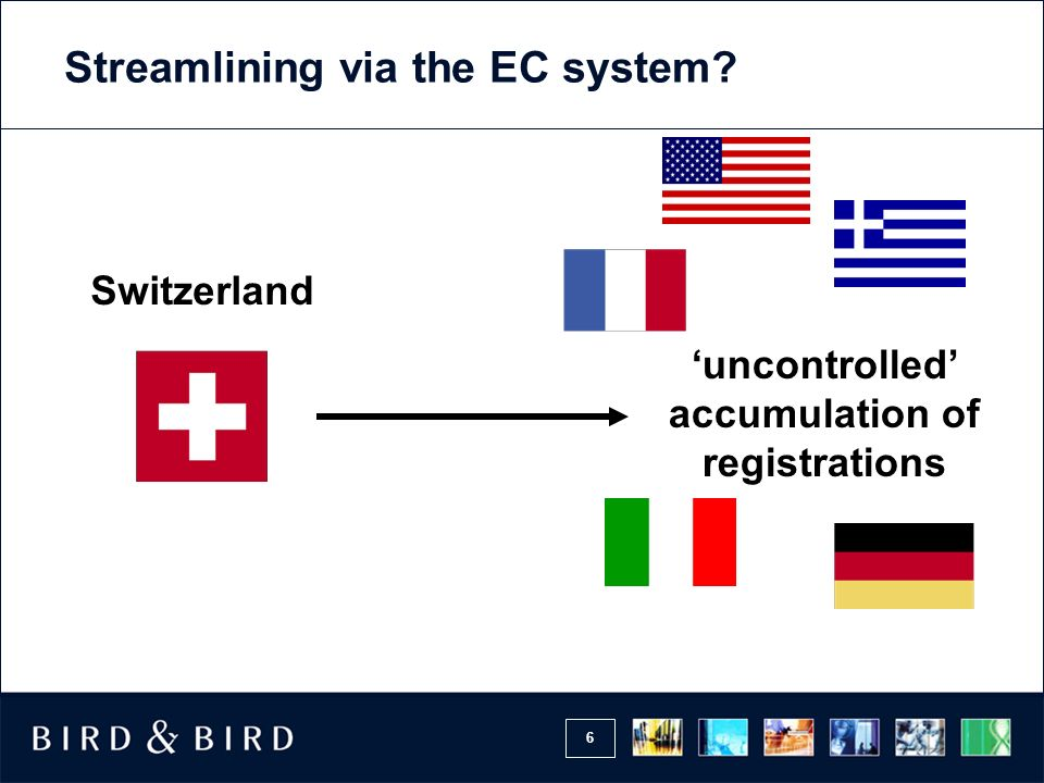 Streamlining via the EC system