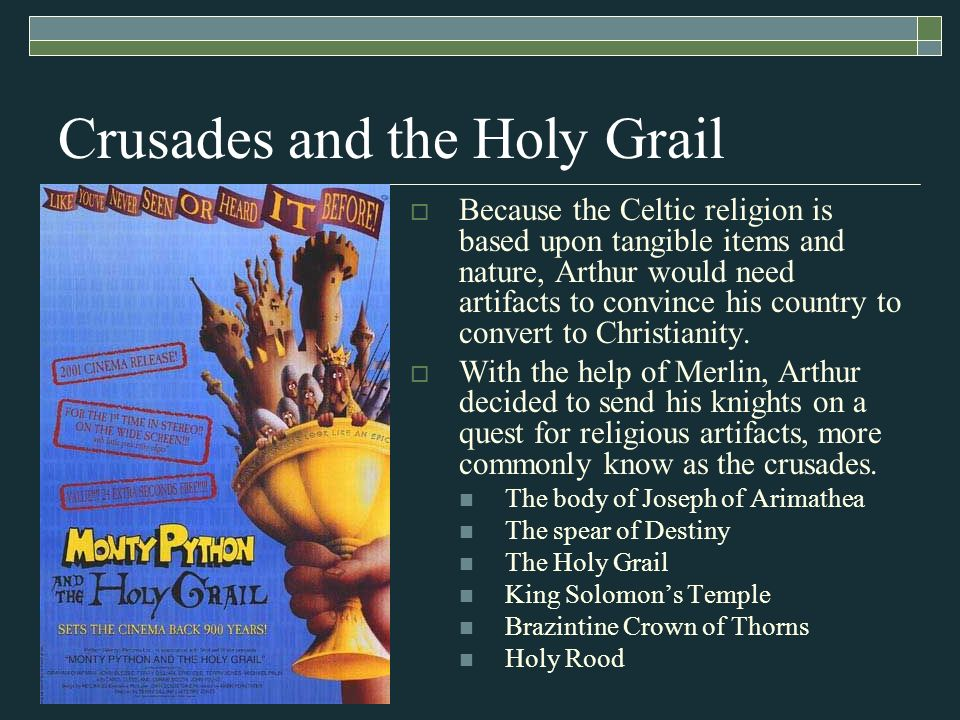 an analysis of the legend of the christian holy grail The legend may combine christian lore with a celtic myth of a cauldron  or  holy grail, related to an old french, word meaning royal blood.