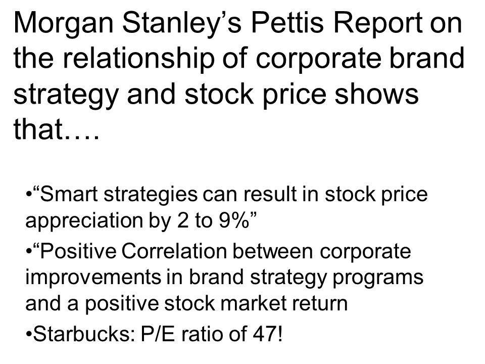 Morgan Stanley's Pettis Report on the relationship of corporate brand strategy and stock price shows that….