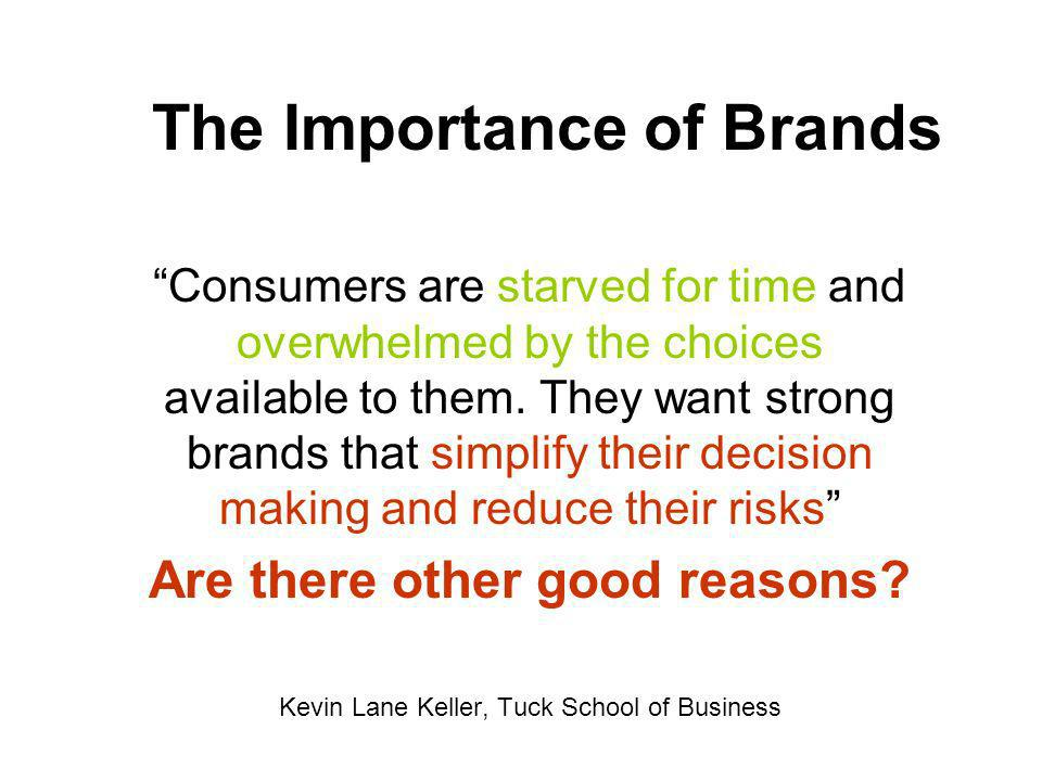 The Importance of Brands