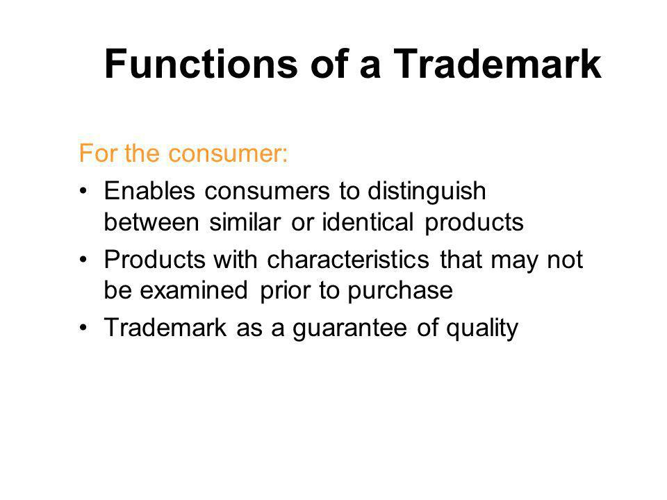 Functions of a Trademark
