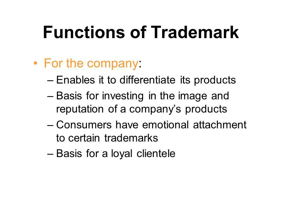 Functions of Trademark