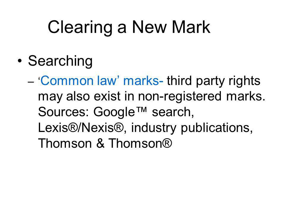 Clearing a New Mark Searching