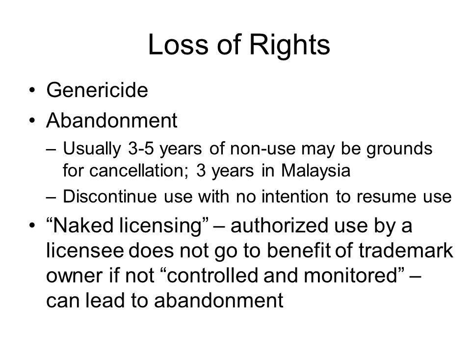 Loss of Rights Genericide Abandonment