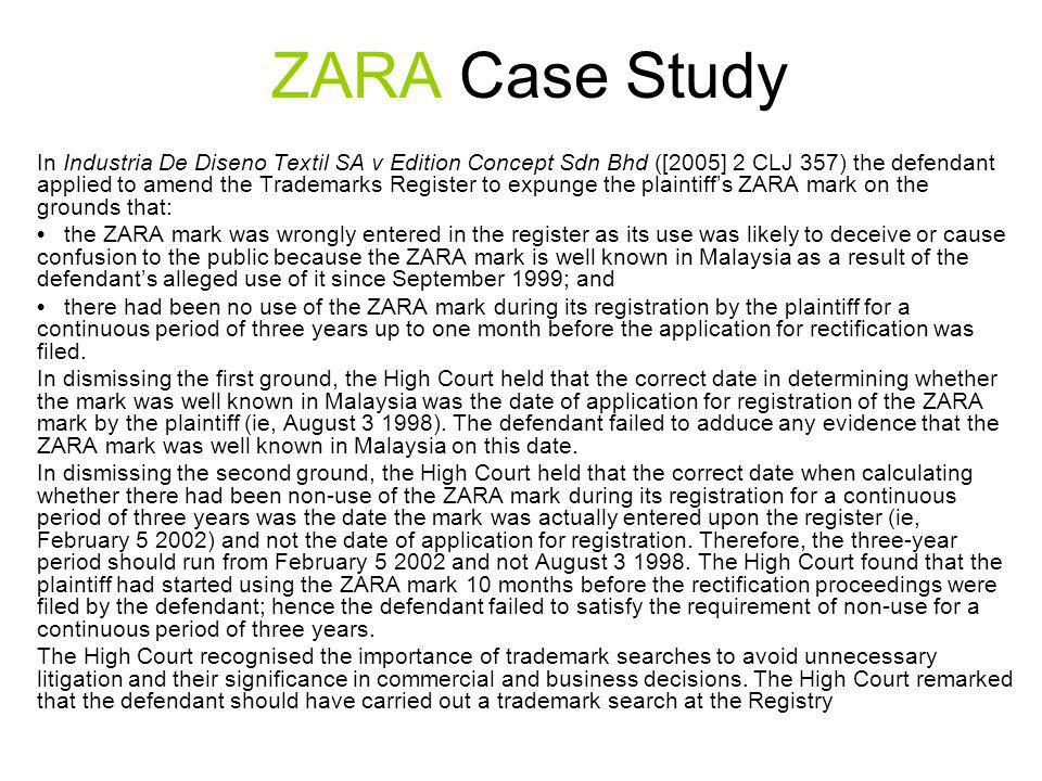 thesis relating to zara