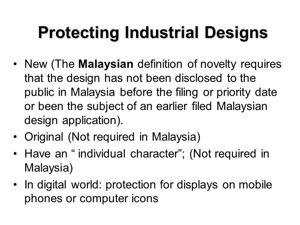 Protecting Industrial Designs