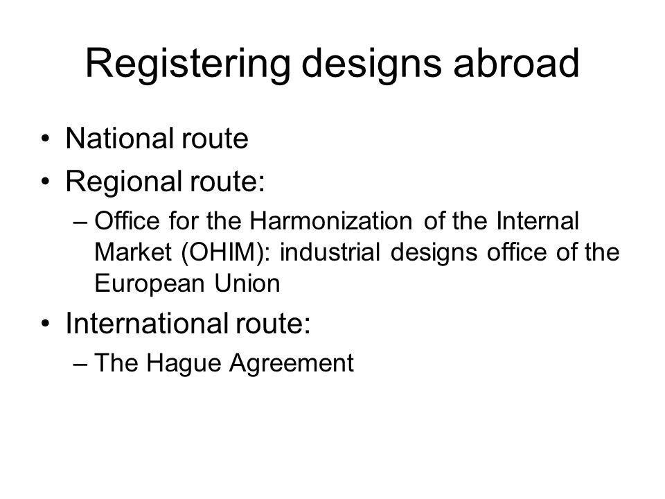 Registering designs abroad