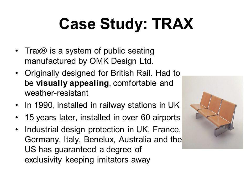 Case Study: TRAX Trax® is a system of public seating manufactured by OMK Design Ltd.