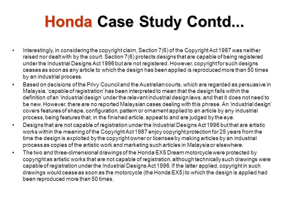 Honda Case Study Contd...