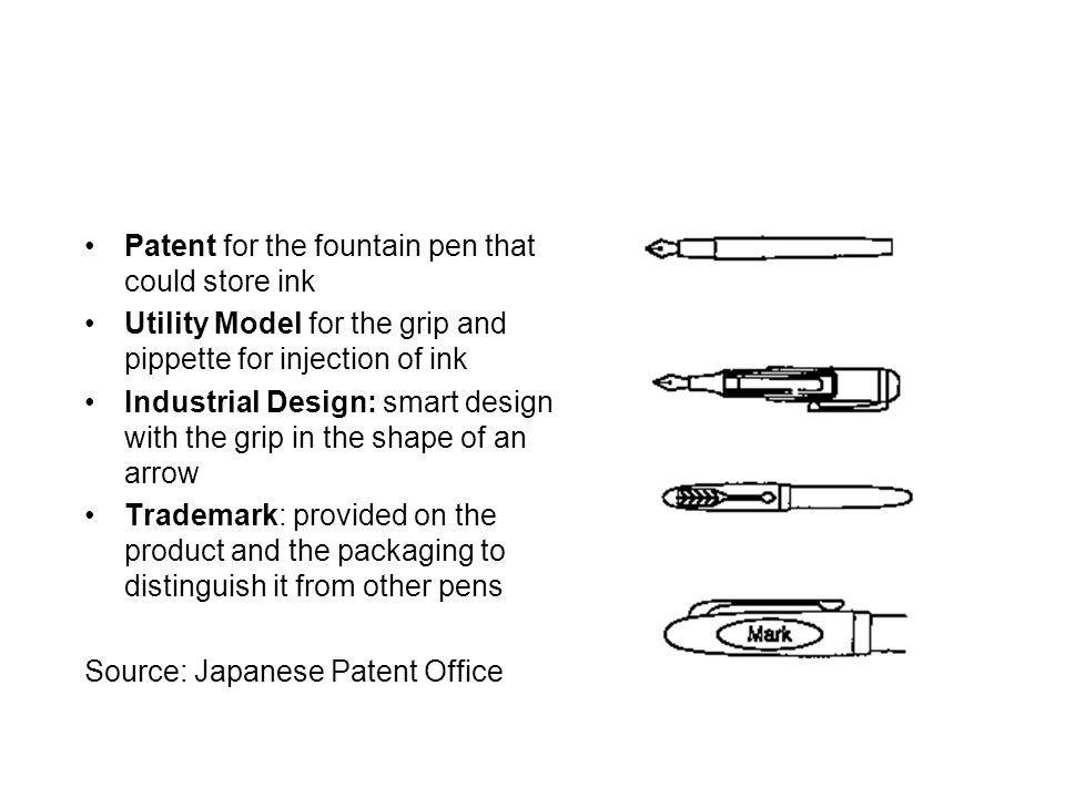 Patent for the fountain pen that could store ink