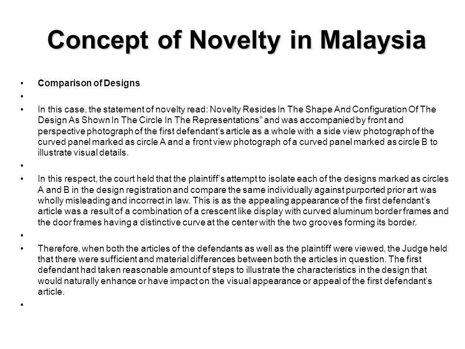 Concept of Novelty in Malaysia